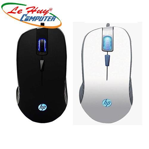 Chuột máy tính HP G100  đen/ trắng Led (USB)