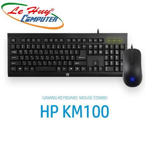 Combo Bàn phím & Chuột HP KM 100 Đen  (USB)