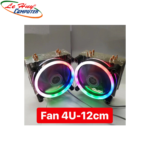 FAN CPU VSP 4U(FAN 12CM  LED RGB)