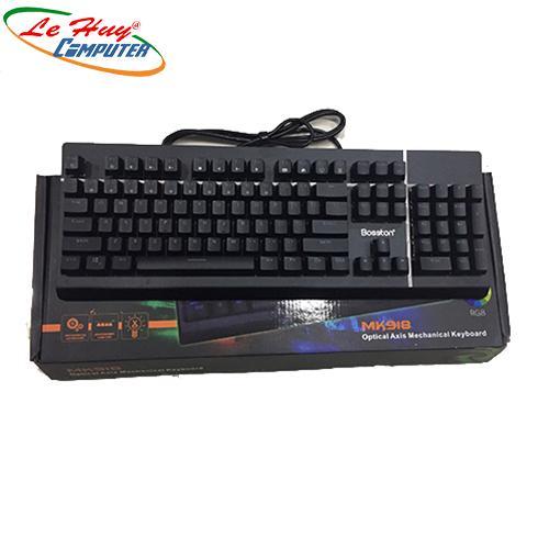Bàn phím cơ Bosston MK918 USB-PHÍM CƠ LED RGB GAME Chính Hãng