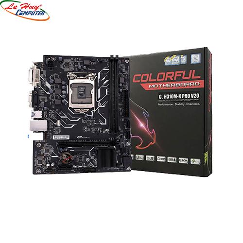 Bo Mạch Chủ - Mainboard Colorful C.H310M-K PRO V20 (Chipset Intel H310/ Socket LGA1151/ VGA onboard)