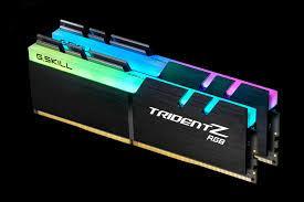 Ram Máy Tính GSKILL  F4-3200C16D-16GTRS 2x8GB TridentZ RGB - Royal Silver