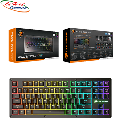 KEYBOARD PURI TKL RGB / Mechanical / RGB / Dust-Proof Cover / Ten-Key Less