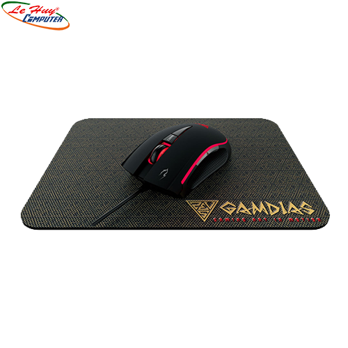 Mouse GAMDIAS Zeus E1 RGB Gaming + Mouse Mat Combo