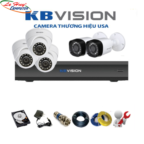 LẮP ĐẶT COMBO 5 CAMERA KBVISION