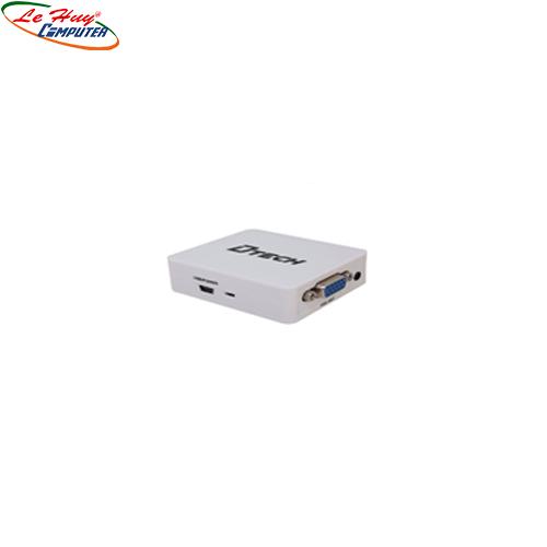 Hộp Chuyển HDMI  ->VGA Dtech  (DT 6528)