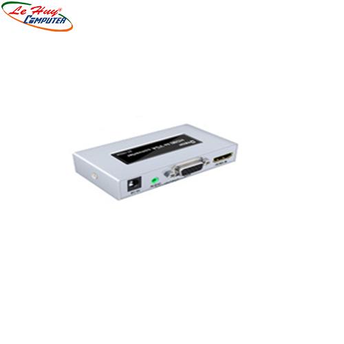 Hộp Chuyển VGA->HDMI Dtech  (DT- 7004B)