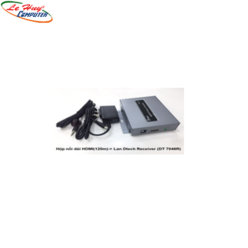 Hộp nối dài HDMI (120m)-> Lan Dtech Receiver (DT7046R)