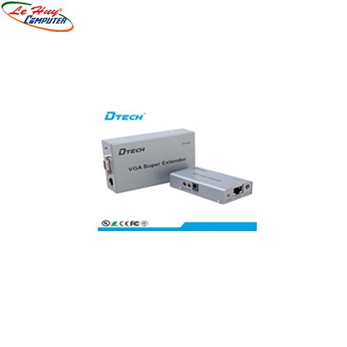 Hộp nối dài VGA(200m)+Audio  -> Lan Dtech(DT7020A)