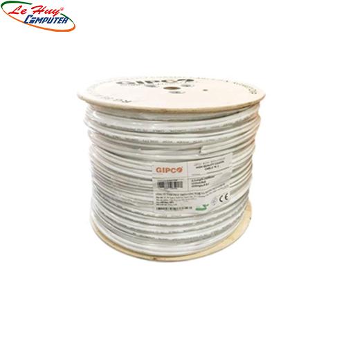 Cable đồng trục Gipco RG59+2C 200M (CU) LÕI ĐỒNG