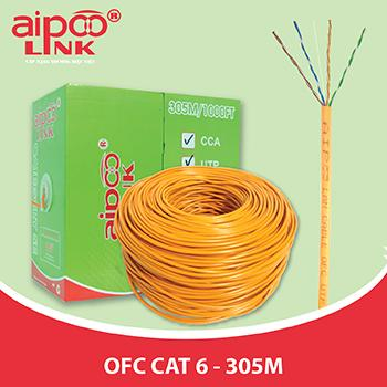CÁP MẠNG Aipoolink S-FTP OFC CAT6 - Siêu chống nhiễu Đồng 100% - Màu cam