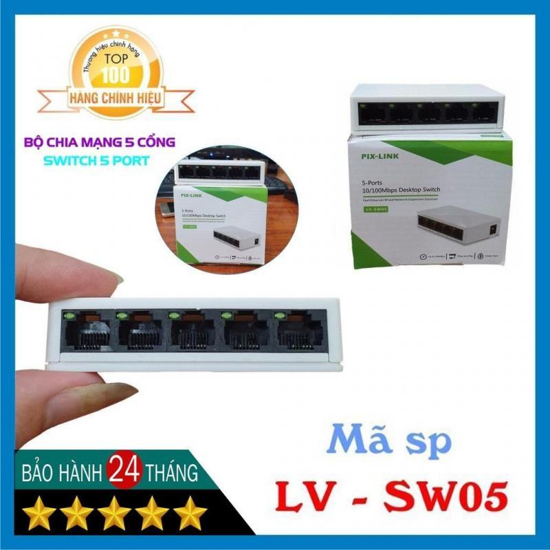 Switch Pix-Link LV-SW05  5-Port ( 100M )-Chính Hãng