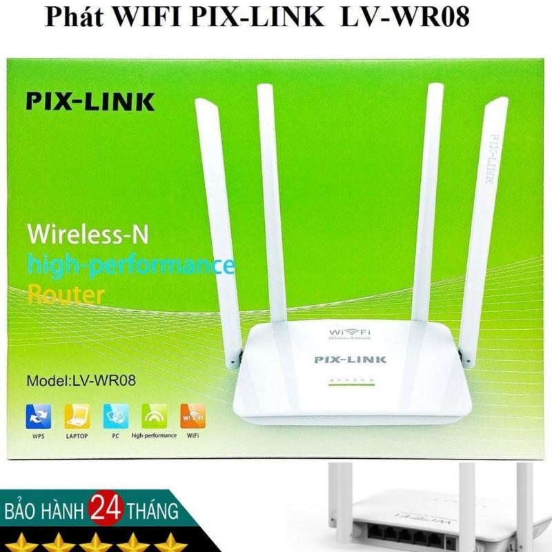 Phát Wifi Pix-Link  LV-WR08 (4 anten, 300Mbps)-Chính Hãng
