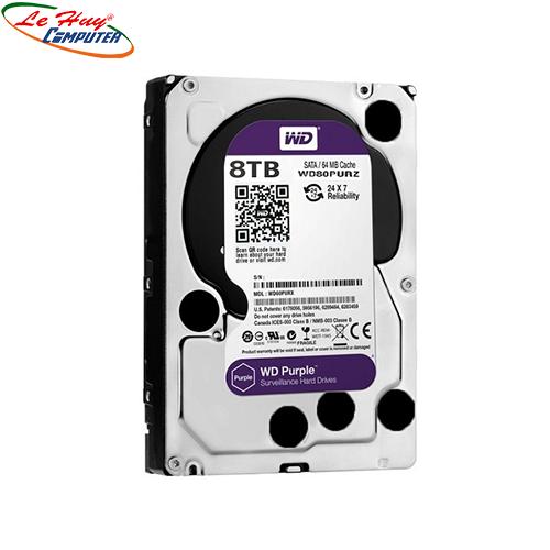 Ổ cứng HDD Western Purple AV 8TB(TÍM)  (BH Online 3Y) CÔNG TY