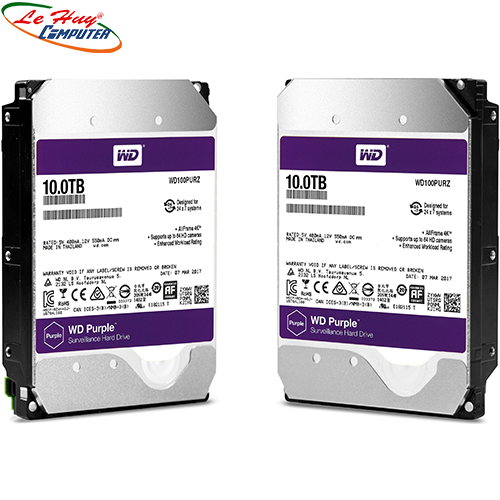 Ổ cứng HDD Western Purple AV 10TB(TÍM) (BH Online 3Y) CÔNG TY