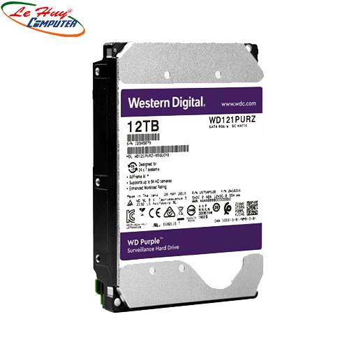 Ổ Cứng HDD Western Purple AV 12TB(TÍM) (BH Online 3Y) CÔNG TY