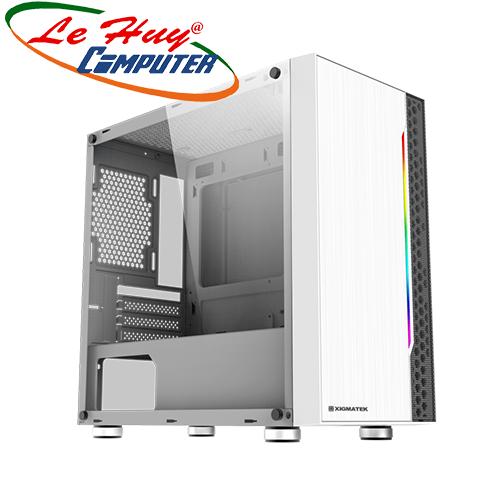 Vỏ máy tính Xigmatek GEMINI WHITE (RGB STRIP)- TRẮNG