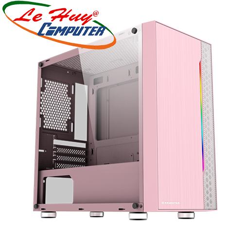 Vỏ máy tính Xigmatek GEMINI QUEEN (RGB STRIP)-HỒNG