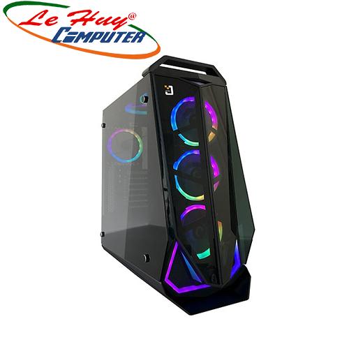Vỏ máy tính Jetek G9018(KÈM 3 FAN LED RGB TRƯỚC)