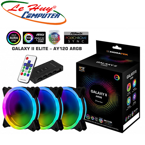 Fan Case XIGMATEK GALAXY II ELITE - AY120 ARGB