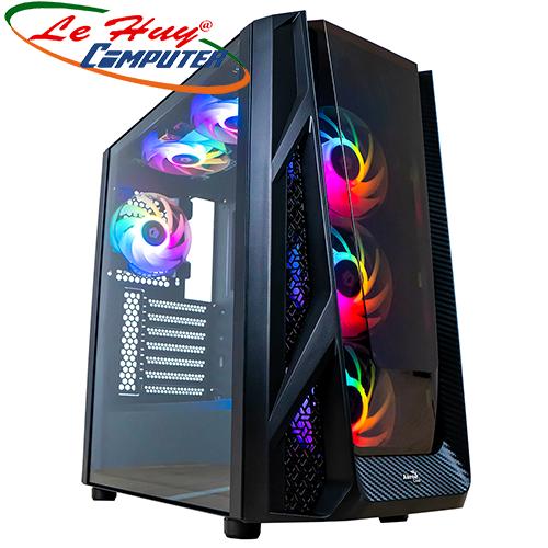 Vỏ máy tính AEROCOOL NIGHT HAWK – KÍNH CƯỜNG LỰC