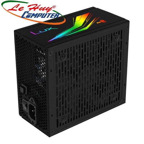 Nguồn máy tinh AEROCOOL LUX RGB 650W 80 Plus Bronze
