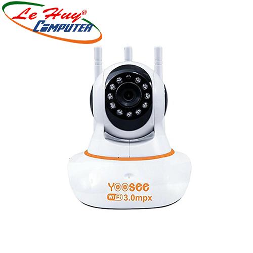 Camera Yoosee: Camera Xoay hồng ngoại IP 3.0Megapixels 3 anten,âm thanh 2 chiều