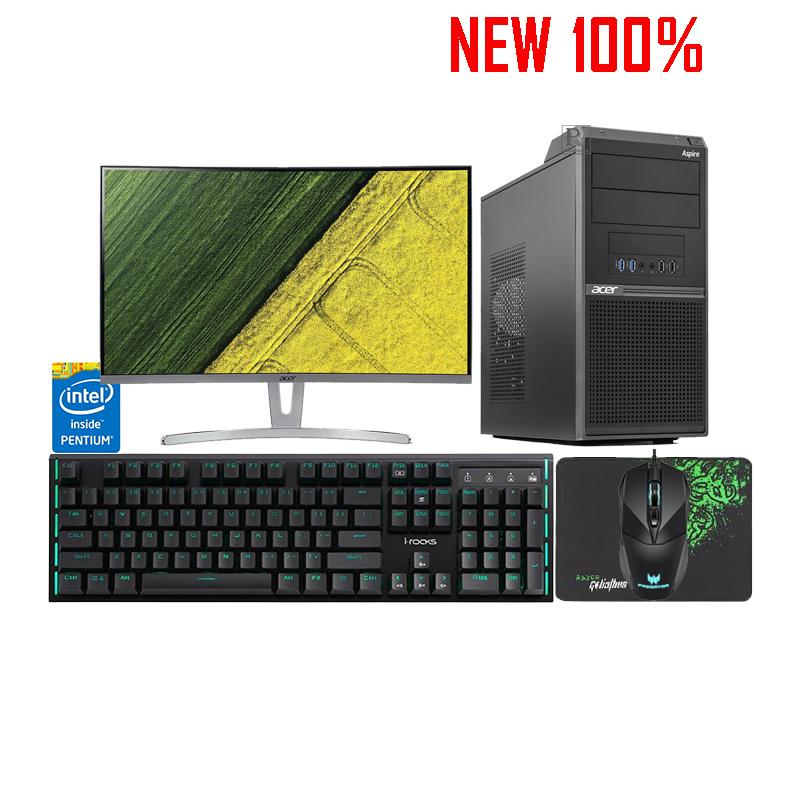Máy Tính Để Bàn/PC Acer M230 Pentium G5400/4GB/1TB HDD/Intel UHD Graphics/Endless