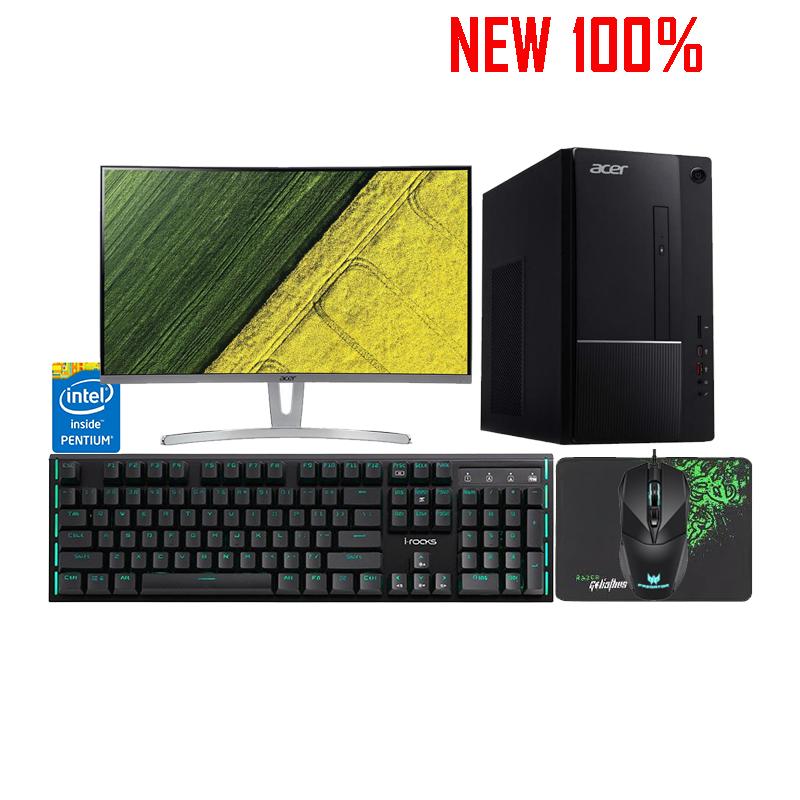 Máy Tính Để Bàn/PC Acer TC-865 Pentium G5420/4GB/1TB HDD/Intel UHD Graphics/Endless