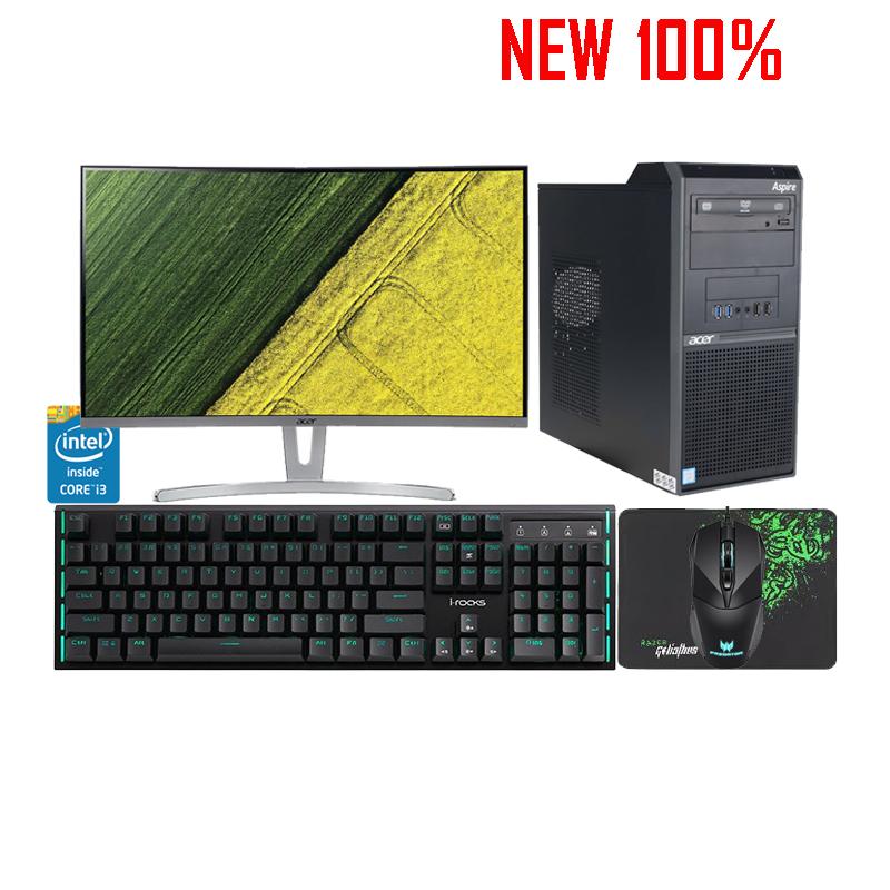 Máy Tính Để Bàn/PC Acer M200MT i3-7100/4GB/1TB HDD/Intel HD Graphics/FreeDOS