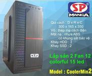Vỏ máy tính SP CoolerMin2(2fan coloful led)