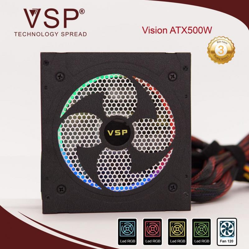 Nguồn máy tính VSP ATX 500W - LED RGB