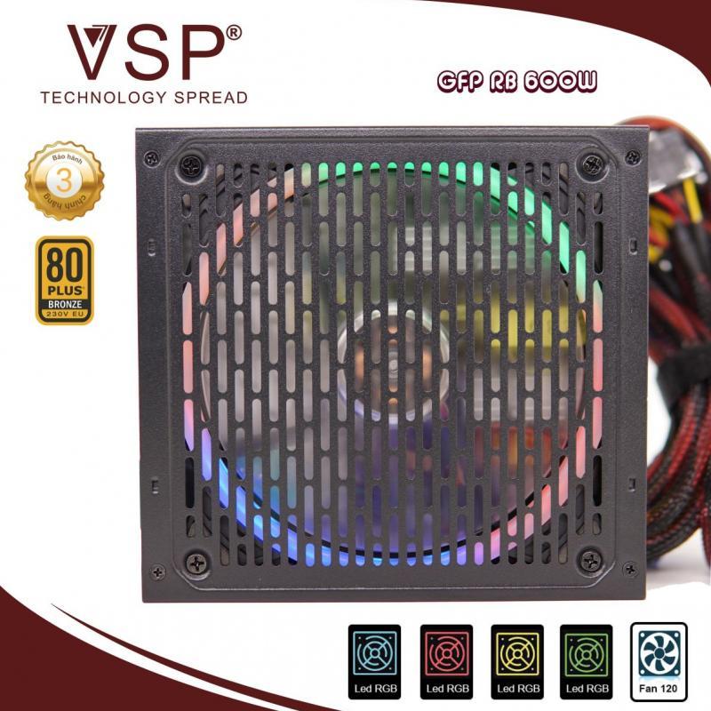 Nguồn máy tính VSP 600W RS600- LED RGB
