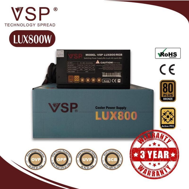Nguồn máy tính VSP LUX ATX 800W - LED RGB