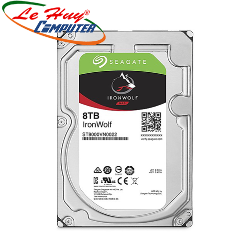 Ổ cứng NAS Iron Wolf 8TB Seagate ST8000VN0022