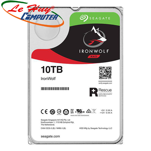 Ổ cứng NAS Iron Wolf 10TB Seagate ST10000VN0008