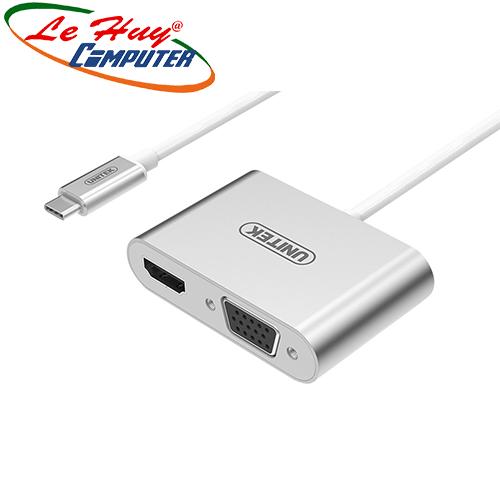 Cable Type-C ->HDMI+VGA Unitek Y-V100SL
