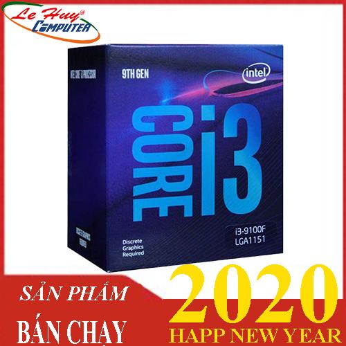 CPU Intel Core i3 9100F,  Chính hãng No GPU