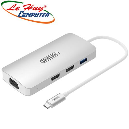 Cáp Type-C -> USB (3.0)/2P HDMI /VGA Unitek (Y9116)