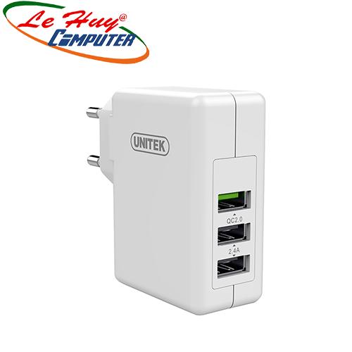 Sạc UNITEK  (3 USB)24W (Y-P 537A)