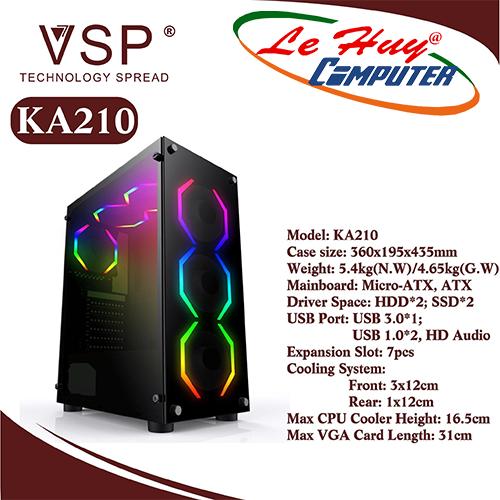 Vỏ máy tính VSP KA210 NEBULA Kính cường lực
