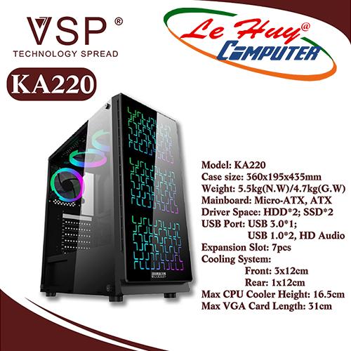 Vỏ máy tính VSP KA220 NEBULA Kính cường lực