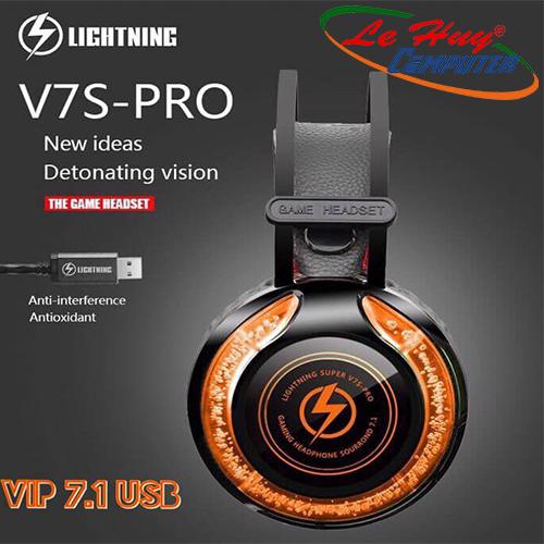 Tai nghe Lightning V7S PRO LED RGB 7.1 usb