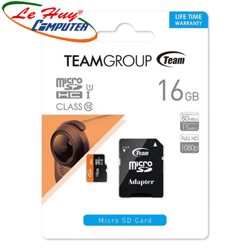 Thẻ nhớ TeamGroup micro 16GB SDHC UHS-I (box + adapter)