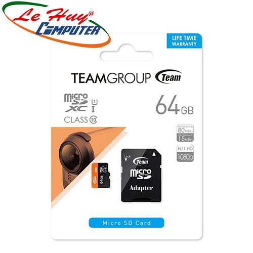 Thẻ nhớ TeamGroup micro 64GB SDHC UHS-I