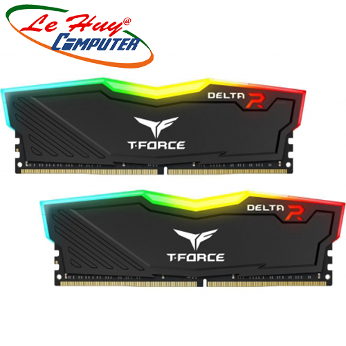 Ram Máy Tính TEAM T-Force Delta RGB DDR4 16GBx2 3000(For Led)