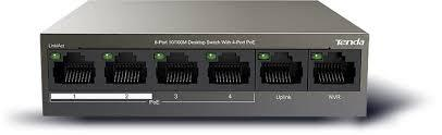 Thiết bị chuyển mạch Switch Tenda POE 4 PortTEF1106P(4 cổng PoE + 2 cổng UPLINK)
