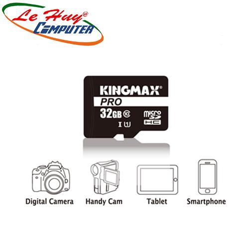 Thẻ nhớ MicroSD Kingmax CL10 PRO 32G/ U1, UHS-1, 80MB/s R - 10MB/s W, SD w/o adaper