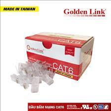 Đầu bấm dây mạng RJ45 Goldenlink CAT6 UTP