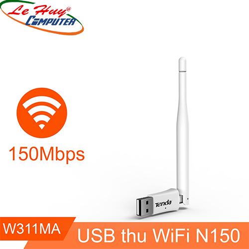 Bộ thu sóng Wifi Tenda W311MA - USB Chuẩn N 150Mbps